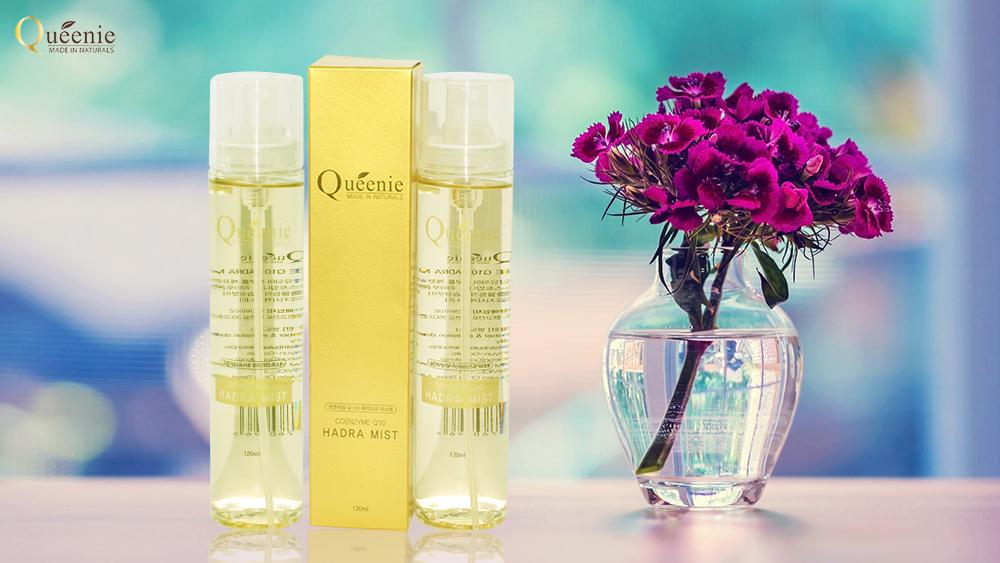 Xịt khoáng dưỡng ẩm Q10 chống lão hóa Queenie